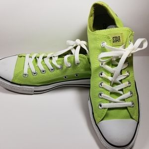 Converse All Star lime green mens 10.5   W 12.5